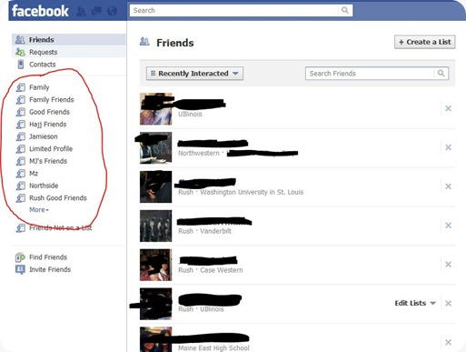facebook-lists